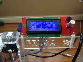 Prusa i3 LCD mounts for 6mm sheet frame