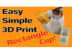 rectangle cup & clip