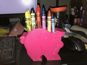 Piggy Crayon Holder