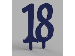 18° BIRTHDAY NUMBER