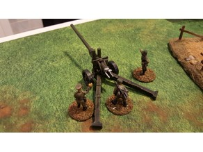 Soviet A-19 122mm gun - 28mm scale
