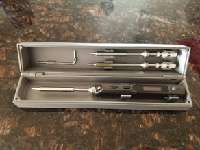 TS100 Iron Solder Box and tip holder