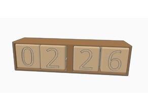 Simple Cube Calendar