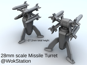 Small Missile Turret (28mm scale)