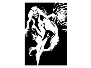 Silver Banshee stencil