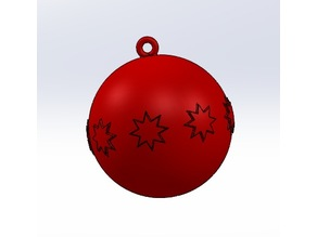 Christmas Tree Ball with Stars HD STL - Customizable by Scaling