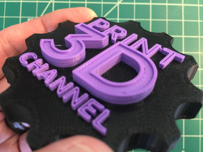 Print 3D Channel Maker Coin