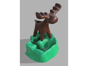 Moose w/ Planter Base - Two-body or Dual-Color model