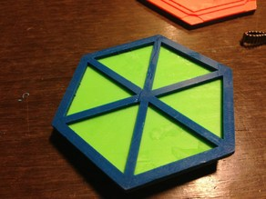 Magnet base for 3D Catan pieces with 2x5mm cylindrical magnets