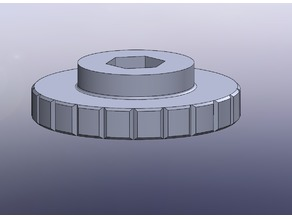 M3 Nyloc thumb wheel