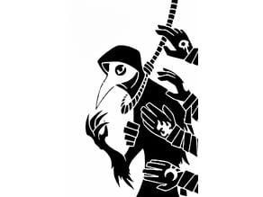 Plague Doctor stencil