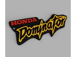 Honda Dominator Keychain optional 2 color print