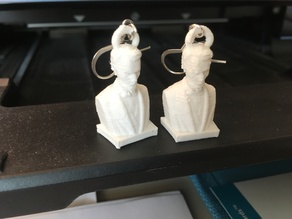Abraham Lincoln Bust Earrings