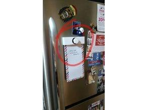 Magnetic Grocery List Holder