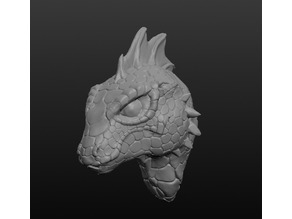 Detailed Lizardfolk Head