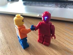 3dprinted lego + LED