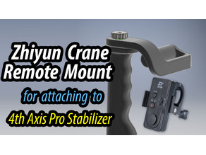 Mount for Zhiyun Remote Control ZW-B02 - suits my 4th axis Pro Stabilizer