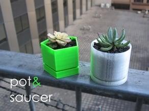 pot&saucer - Customisable