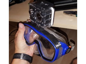 swimming goggles actioncam holder