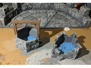 Fantasy Wargame Terrain - Well and Ruined Well