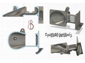 lightweight fan bracket (aka Creality CR10S hotend modification)