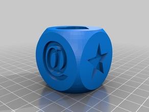 Cube with symbols