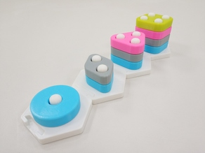Stacking block for shape and color recognition