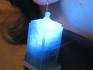 LED TARDIS Earrings