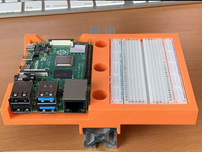An 8020 Series 10  bumper for the Raspberry Pi 4 with a proto board