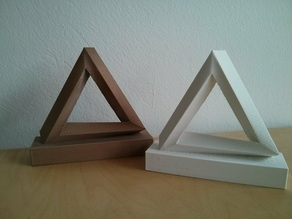 Escher's Penrose Triangle on a base