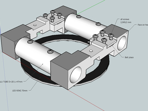 Duplicator dual carriage and light, ABS redesign