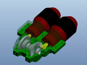 Dual Motor Gearbox for Robot