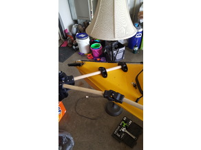 Saddle clamp/PVC pipe antenna mast mount by jaymzx - Thingiverse
