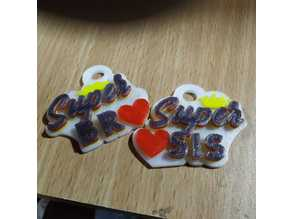 Super BRO Super SIS Keychain!! for raksha bandhan or birthday