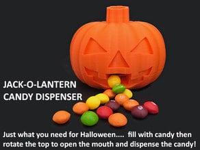 Jack-O-Lantern Candy Dispenser