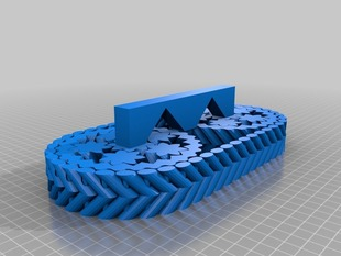 Fully Printable Tank Tread Assembly