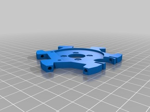 E3D v6 hot end mount for Anycubic Linear Plus