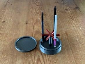 Paint/make-up brush dry rack