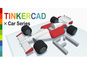 F1 Racing Car with Tinkercad