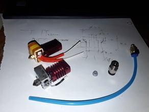 Creality Mk8 Hotend Captive Heatbreak Liner Mod