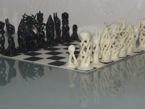 Thicker version of Zeycus'abstract chess set