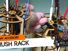 Hobby Brush Rack