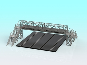 1:32 slot car 4-Lane footbridge