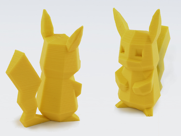 Low-Poly Pikachu by FLOWALISTIK - Thingiverse