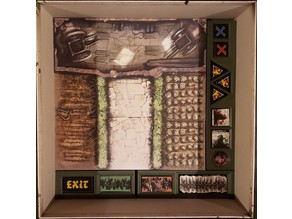 Zombicide Green Horde -or- Black Plague *Rough & Ready* game organizer