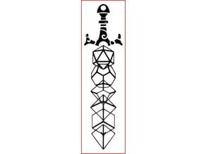 D&D Dice Bookmark