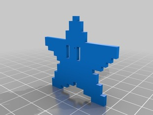 My Customized pixel art Pendant - Star!