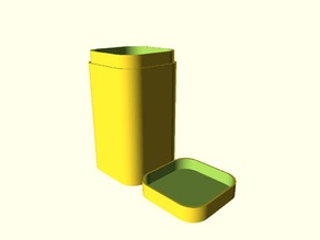 Rounded rectangular containers with lid
