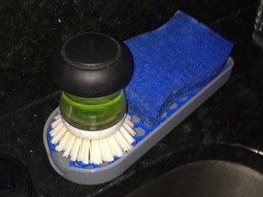 Brush and Sponge/Soap Dish