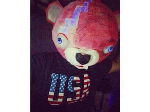 fortnite bear full head mask . mascara